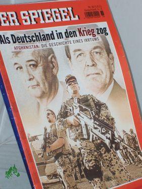 36/2011, Als Deutschland In Den Krieg Zog: Der Spiegel, Politkmagazin