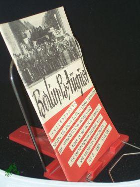 Berlin, 13. August : Sperrmassnahmen gegen Recht