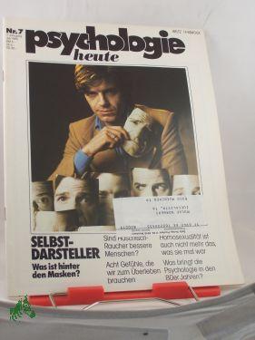 7/1980, Selbstdarsteller, Was ist hinter den Masken: Psychologie heute