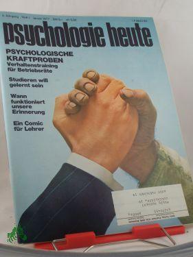 1/1977, Psychologische Kraftproben: Psychologie heute