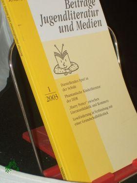 1/2003: Beiträge Jugendliteratur und
