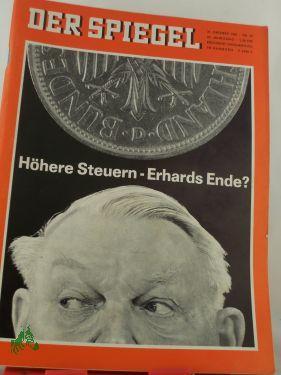 45/1966, Höhere Steuern, Erhards Ende