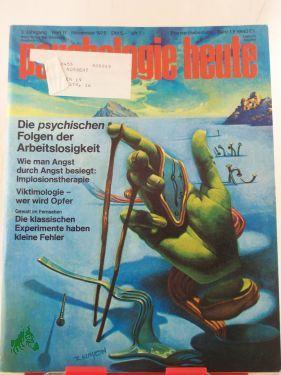 11/1975, Die psychischen Folgen der Arbeitslosigkeit: Psychologie Heute
