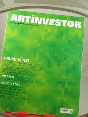 4/2010, Grüne Kunst, Wolfgang Laib, Jonas Burgert,: ARTinvestor, Zeitschrift