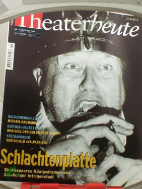 10/1999, Schlachtenplatte: THEATER HEUTE, Zeitschrift