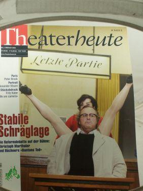 2/2004, stabile Schräglage: THEATER HEUTE, Zeitschrift
