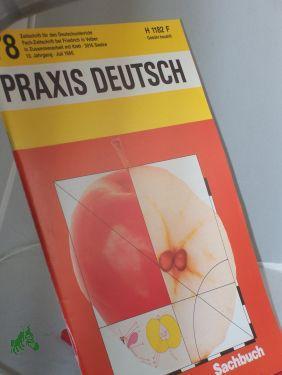 7/1986, Sachbuch: PRAXIS DEUTSCH, Zeitschrift für den Deutschunterricht