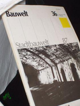 36/1985, Ausblicke auf die unsichtbare Stadt: Bauwelt, Stadtbauwelt, Zeitschrift