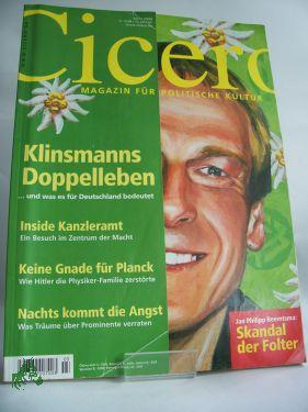 Klinsmanns Doppelleben - und was es für: März 2006, Cicero,