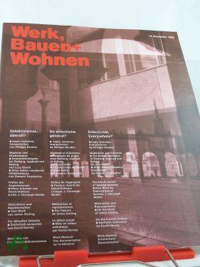 12/1994 elektrizismus überall?: Werk, Bauen und Wohnen - ZÜRICH