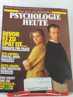 2/1989 Bevor es zu spät ist, Therapie für Paare: Psychologie heute