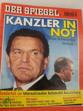 DER SPIEGEL 37/2001, Kanzler in Not: DER SPIEGEL