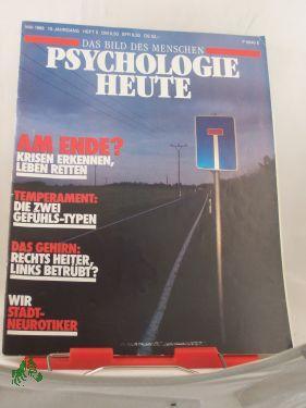 5/1988, Am Ende, Krisen erkennen, Leben retten: Psychologie heute