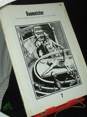 7/1973: Baumeister, Zeitschrift für