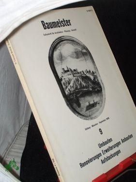 9/1968: Baumeister, Zeitschrift für