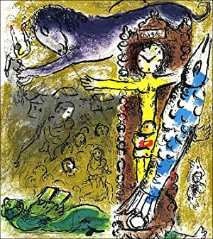 Marc CHAGALL. Le Christ à l'horloge / Christ in the Clock. Lithographie originale 1957.