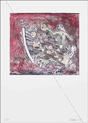 """Hugh WEISS. Lithographie originale """"Sans titre"""".: Hugh WEISS."""