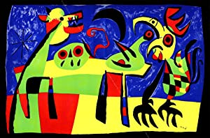 Joan MIRO. Chien Aboyant à la Lune / Dog Barking At The Moon.