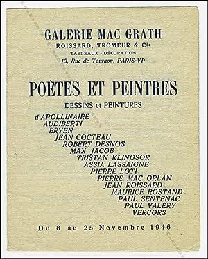 Poètes et Peintres. Dessins et Peintures.: APOLLINAIRE, AUDIBERTI, BRYEN,