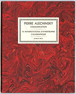 ALECHINSKY. Communication. 16 manifestations d'hypertrophie calligraphique.