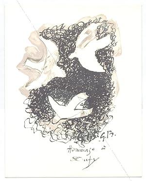 Georges BRAQUE. Hommage à Dufy.: Georges BRAQUE].