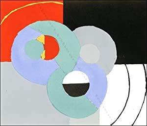 Sonia DELAUNAY. COMPOSITION VI. Pochoir couleur / coloured pochoir, 1952.