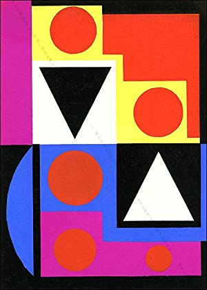 Auguste HERBIN. COMPOSITION XV. Pochoir couleur / coloured pochoir, 1952.
