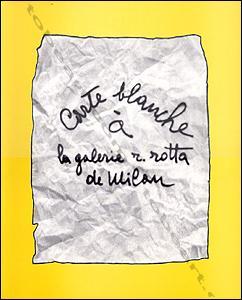 Carte blanche à la galerie R. ROTTA: Giancarlo BARGONI, Plinio