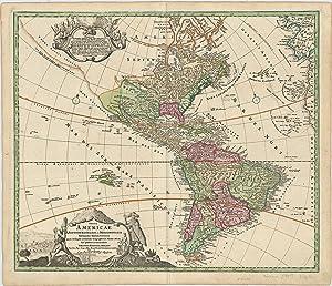 Totius Americæ Septentrionalis et Meridionalis Novissima Repræsentatio quam ex singulis...