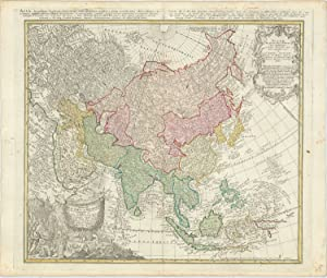 Asia Secundum legitimas Projectionis Stereographicæ regulus .: HOMANN HEIRS.