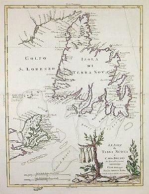 Le Isole di Terra Nuova e Capo Breton di Nuova Projezione.: ZATTA, Antonio.