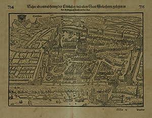 Solothurn. / Wahre abcontrafehtung der Löblichen und alten Statt Solothurn .: MUNSTER, ...