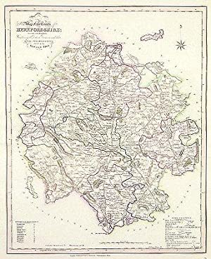 Herefordshire. New Map of the County of Herefordshire; Divided into Hundreds, Containing the ...