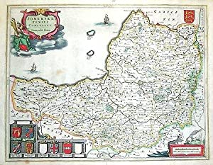 Somerset. Somerset:tensis Comitatus. | Somersetshire: BLAEU, Joan].