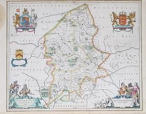 Staffordshire. Staffordiensis Comitatus; Vulgo Staffordshire.: BLAEU, Joan].
