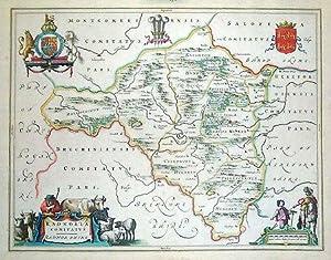 Radnoria Comitatus. Radnor Shire.: BLAEU, Joan].
