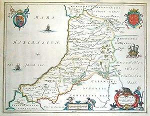 Ceretica; sive Cardiganensis Comitatus; Anglis Cardigan Shire.: BLAEU, Joan].