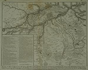 Plan of different Movements of ye Army of ye Allies under Prince Eugene of Savoy, and of ye Frenc...