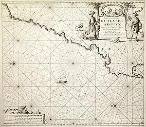 Paskaart van de Kuste van Gualate en: KEULEN, Johannes van.