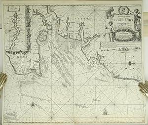 Paskaert Van d'Oost Kust van Engelandt van Dover tot Dunwich Als mede de Toems off de Rivier ...