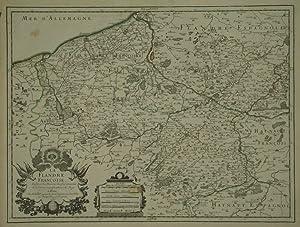 La Flandre Françoise, .: JAILLOT, [Alexis] H[ubert]. [After] SANSON, [Nicolas d'Abbeville].