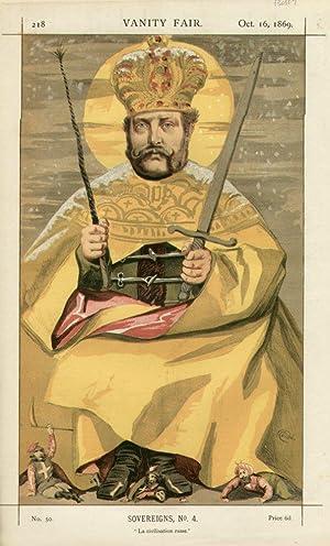 """La civilisation russe."""" Sovereigns. No. 4.: ALEXANDER II., Emperor of Russia."""