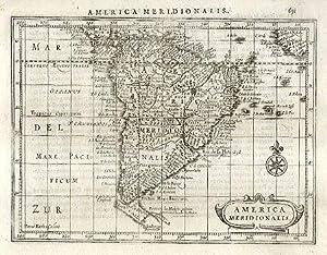 America Meridionalis.: MERCATOR, Gerard & HONDIUS, Jodocus]. KEERE, Pieter van den, (engr.)