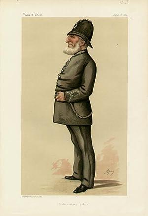 "Parliamentary Police"". Men of the Day. No. 309.: DENNING, E., Police-Inspector."