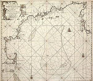 Pas - Kaart Vande Zee Kusten inde Boght van Niew Engeland tusschen de Staaten Hoek en C. de Sable ....