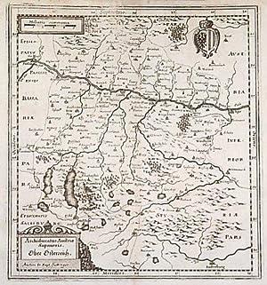Archiducatus Austriæ Superioris. Ober Östereich.: MERIAN, Matthaus].