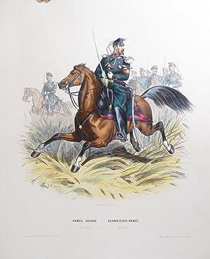 Types Militaires de l'Armée Suisse. Collection de 15 feuilles représentant tous ...