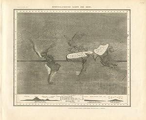Hyetographische Karte der Erde.: MEYER, Joseph]