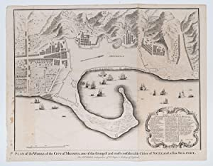 Plan of the Works of the City of Messina, one of the strongest and most considerable Cities of ...