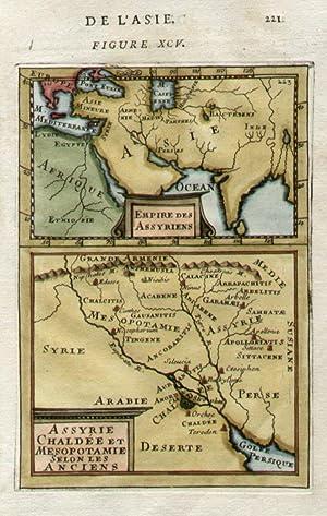 Empire des Assyriens. / Assyrie Chaldée et Mesopotamie Selon les Anciens.: MALLET, ...